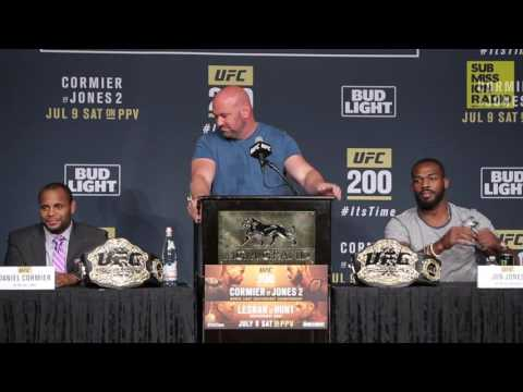 UFC 200 Press Conference: Lesnar Cracks Jokes, Jones/Cormier Take Shots