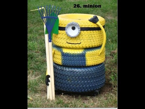 54 things to make with auto tires reuse recycle for Things to make out of recycled stuff
