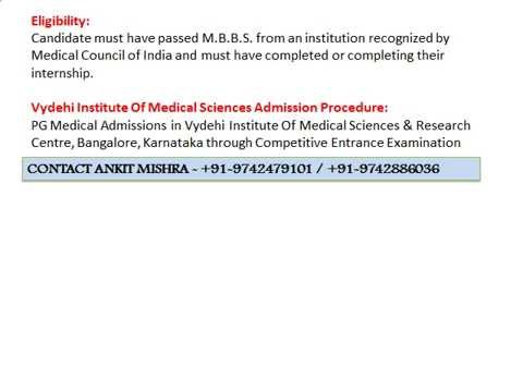 MBBS Admissions in Vydehi Institute of Medical Sciences and Research centre, Bangalore