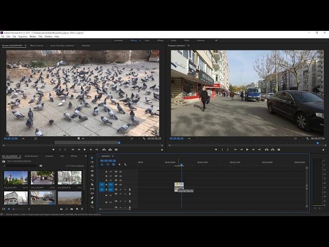 Premiere Pro Eğitimi 17 -  Videoların Hızlandırılması yavaşlatılması ve tersten oynatılması
