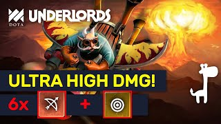 ULTRA HIGH DMG BUILDS! Dead Eye 6 Hunters Combo!  | Dota Underlords