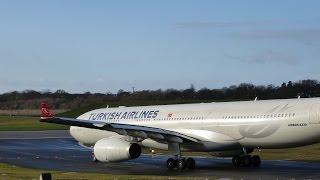RARE Turkish Airlines Airbus A330-300 at Birmingham Airport