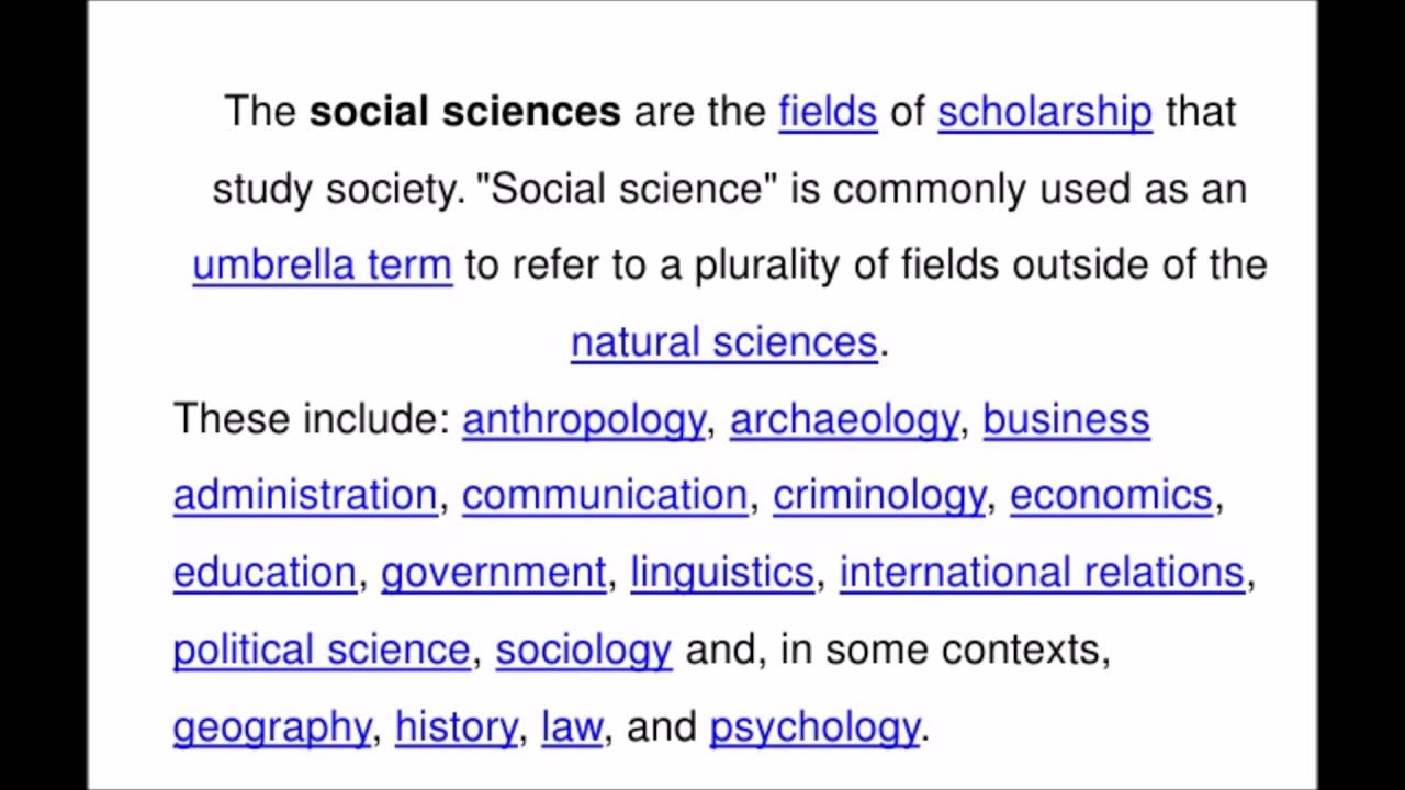 What is social science 2