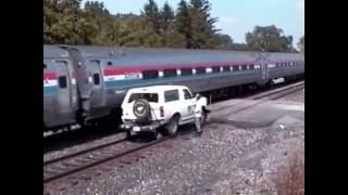 Conrail trains @ Amtrak Wreck Site  8 3 1994 Batavia , NY
