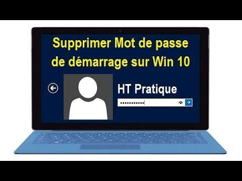 comment supprimer mot de passe windows 10 du d marrage youtube. Black Bedroom Furniture Sets. Home Design Ideas