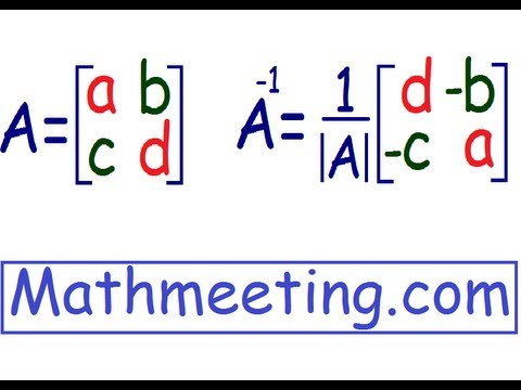 Inverse of 2x2 matrix