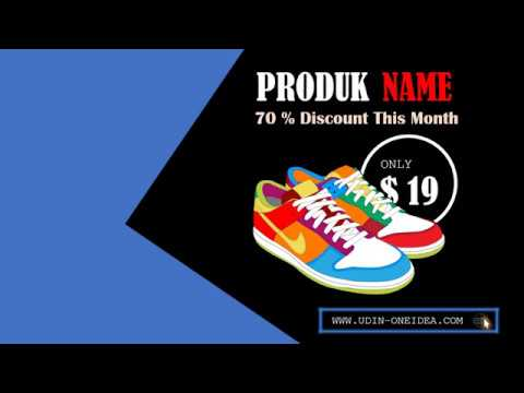 Contoh Iklan Sepatu Created By Power Point Youtube
