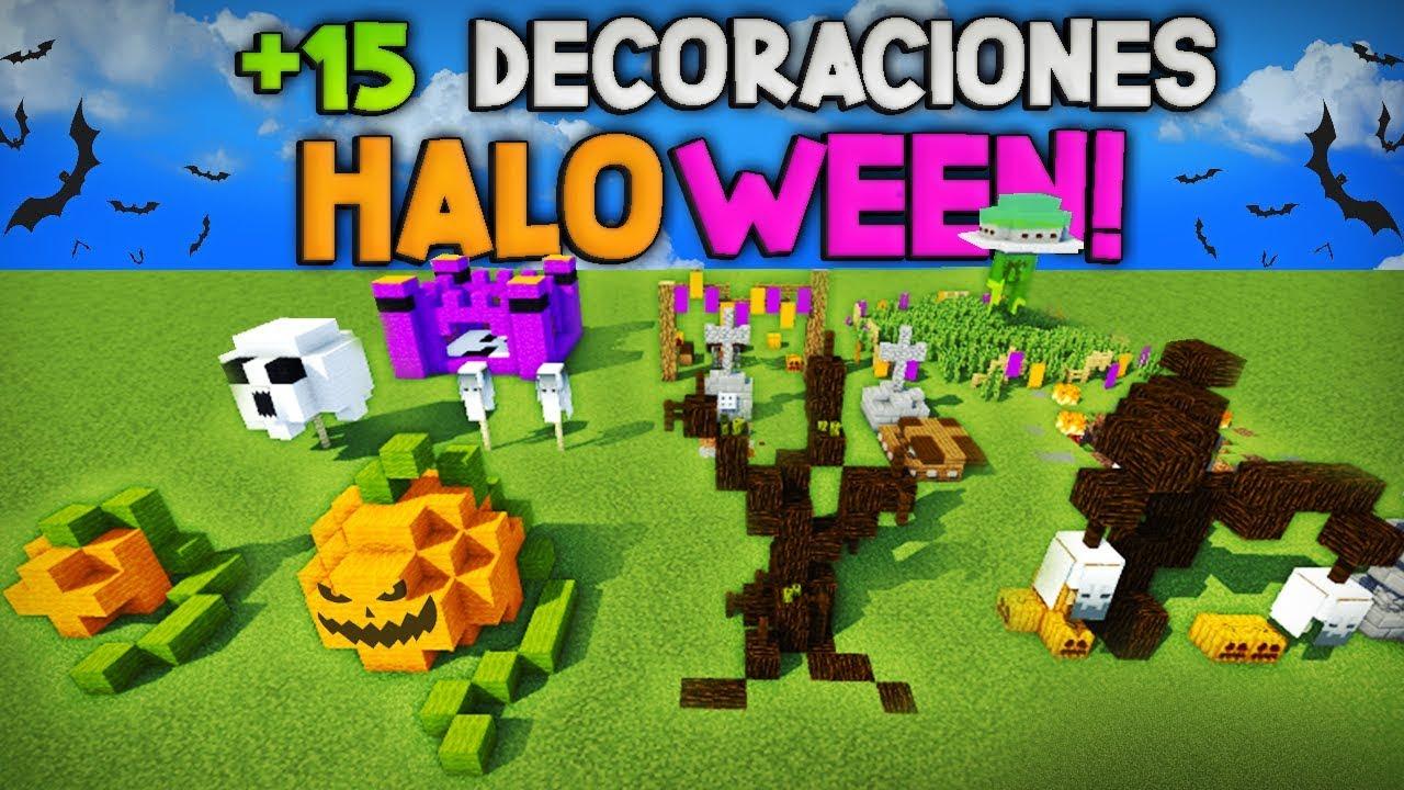 Minecraft Como Hacer De 15 Decoraciones Para Halloween Ideas De Decoración Para Tu Casa