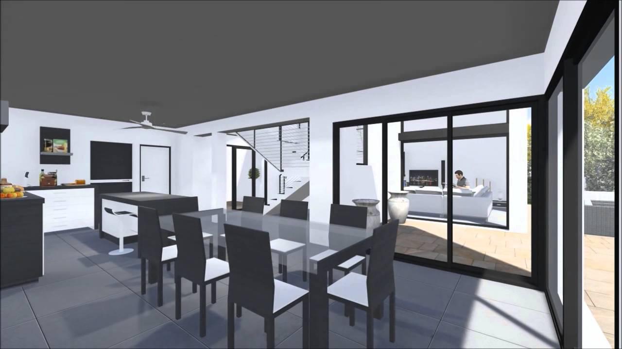 Présentation vidéo de la villa moderne  maison dk   youtube
