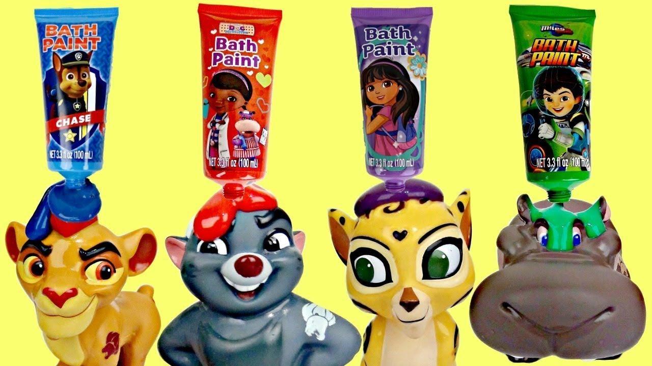 Disney Jr Lion Guard Finger Bath Paint