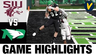 #24 Southern Illinois vs North Dakota Highlights | 2021 Spring FCS College Football Highlights