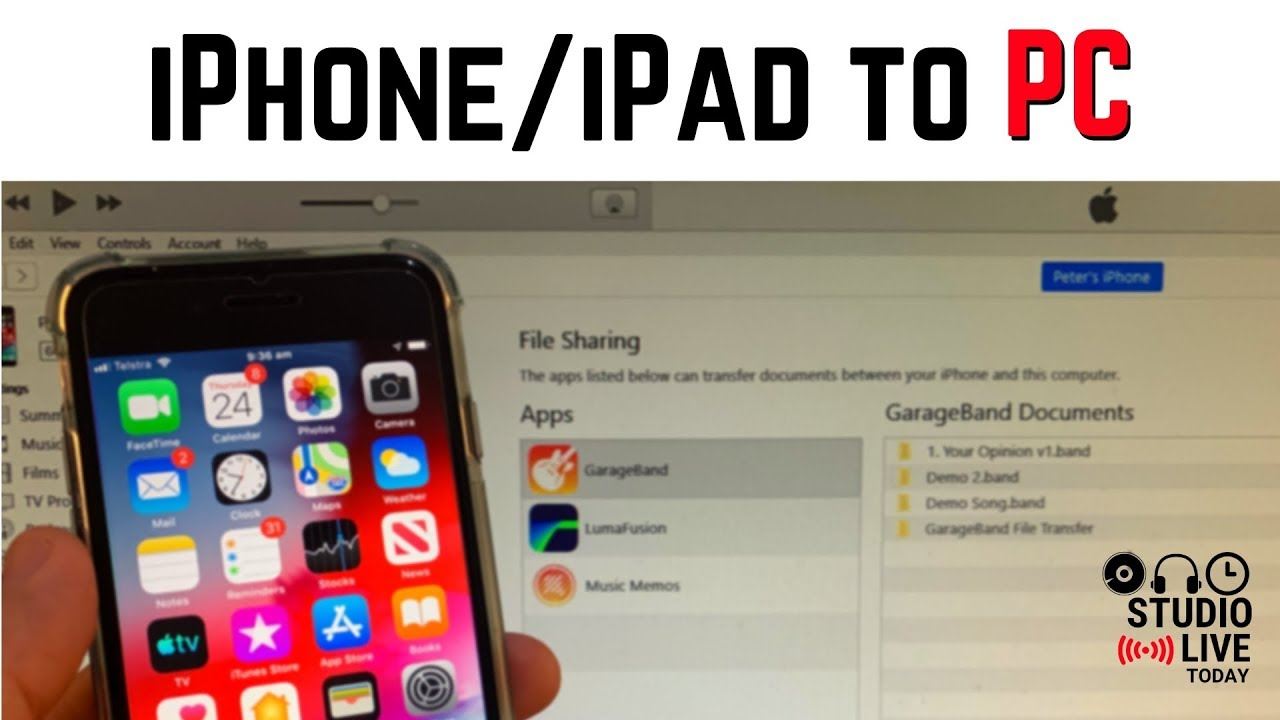 How To Copy Files From Iphone Ipad To Windows Pc Youtube