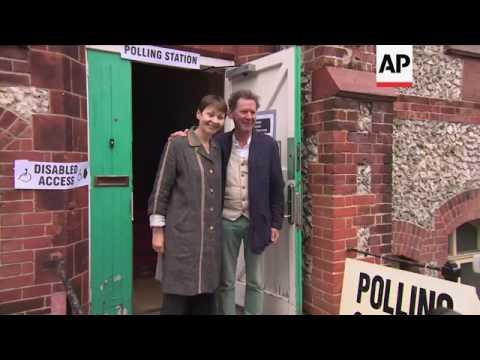 Green leader Lucas votes in UK election