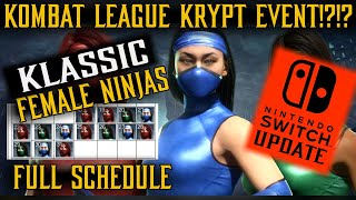 MK11 | BIG NEWS: Klassic Female Ninjas Full-Schedule, Kombat League Krypt Event, Switch Update