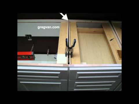 Clamping Kitchen Cabinets before Nailing - Home Building Tips