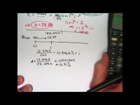 Actuarial Exam 2/FM Prep: Introduction to Effective Annual Discount Rate
