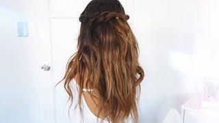 easy twisted crown braid