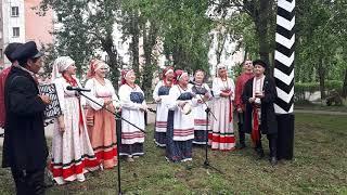 Открытие памятного верстового столба в Усть-Куте. Выступление артистов из Якутска
