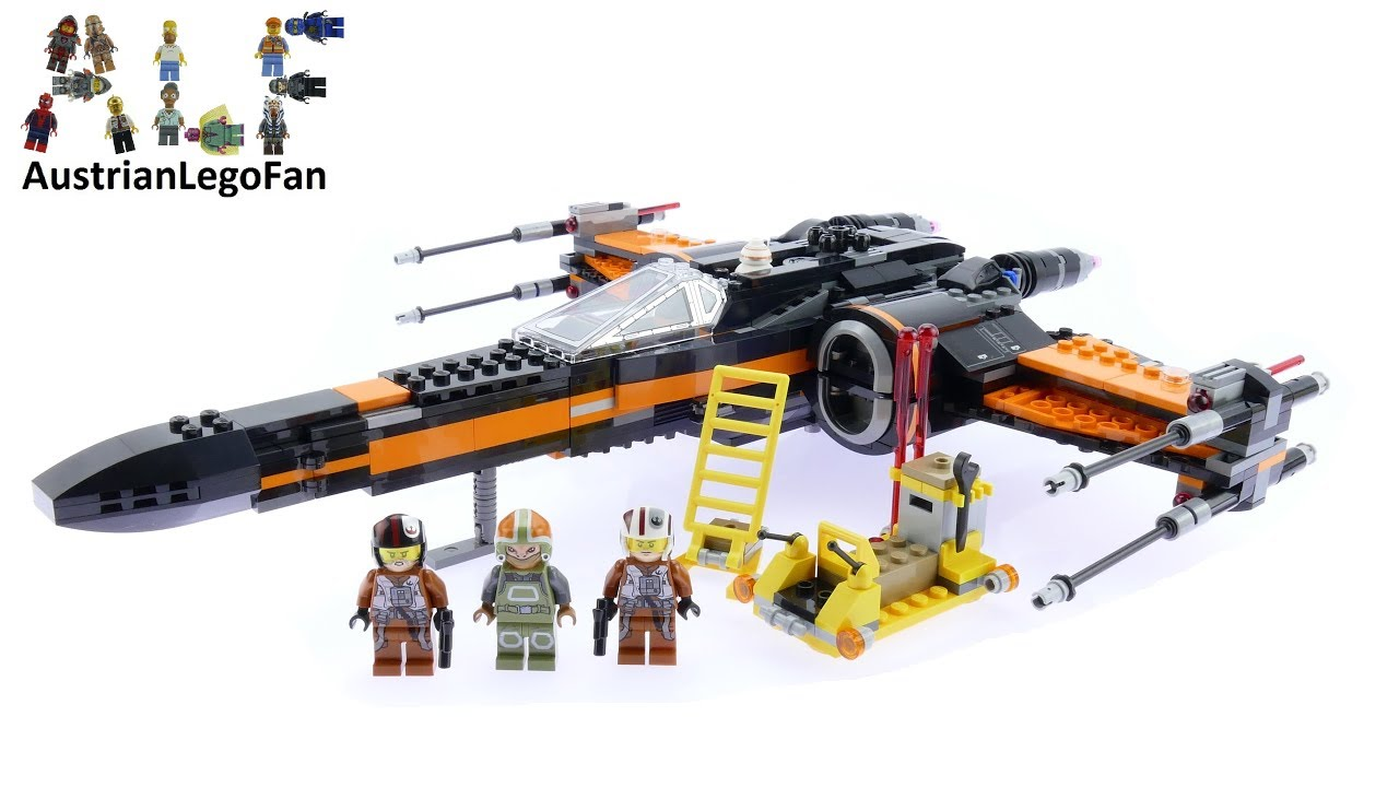 Lego Star Wars 75102 Poes X Wing Fighter Speed Build Review 75157 Captain Rexamp039s At Te