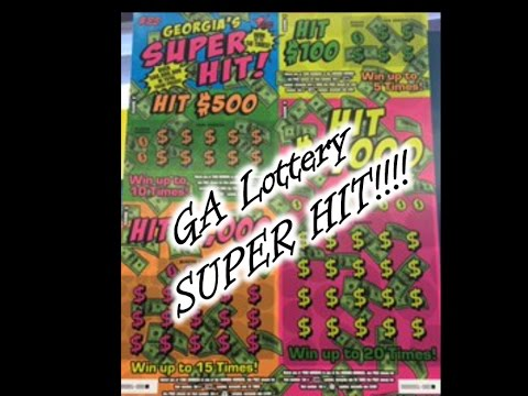 New GA Lottery $25 SUPER HIT $6600 Ticket