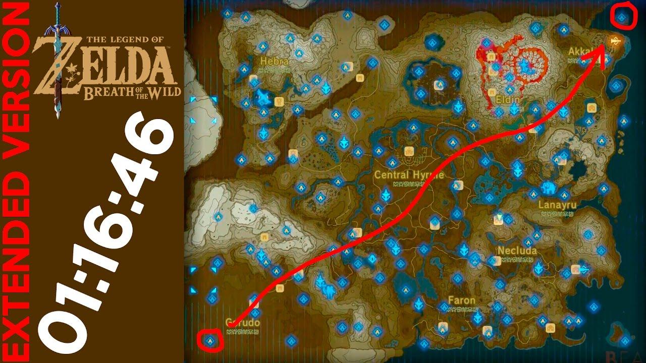 Zelda Breath Of The Wild Cruzando El Mapa De Gerudo A