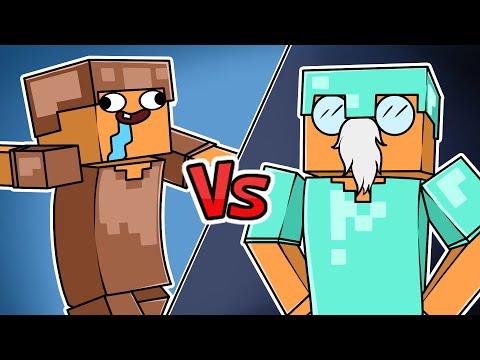 MINECRAFT NOOB VS PRO !!! - ANIMAÇÃO