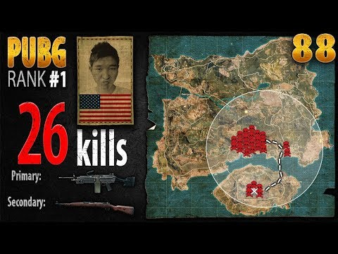 PUBG Rank 1 - Menthol_TV 26 kills SOLO - PLAYERUNKNOWN'S BATTLEGROUNDS #88