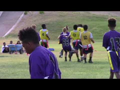 UYBLtv Highlights Becker Middle School Flag Football Gm 1 win .vs. Johnston