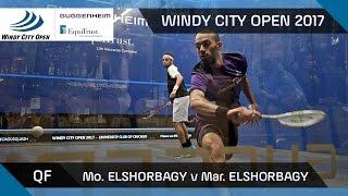Squash: Mo. ElShorbagy v Mar. ElShorbagy - Windy City Open 2017 QF Highlights