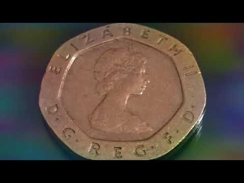 Rare And Expensive UK Coins 20 Pence 1982 Macro Video Numismatic Рідкісні монети