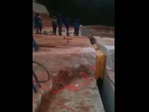 Air Pushing Bag on Brazil Quarry