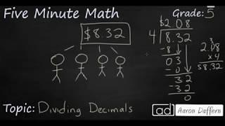 5th Grade Math Dividing Decimals
