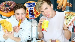 EPIC GAS STATION MUKBANG EATING SHOW
