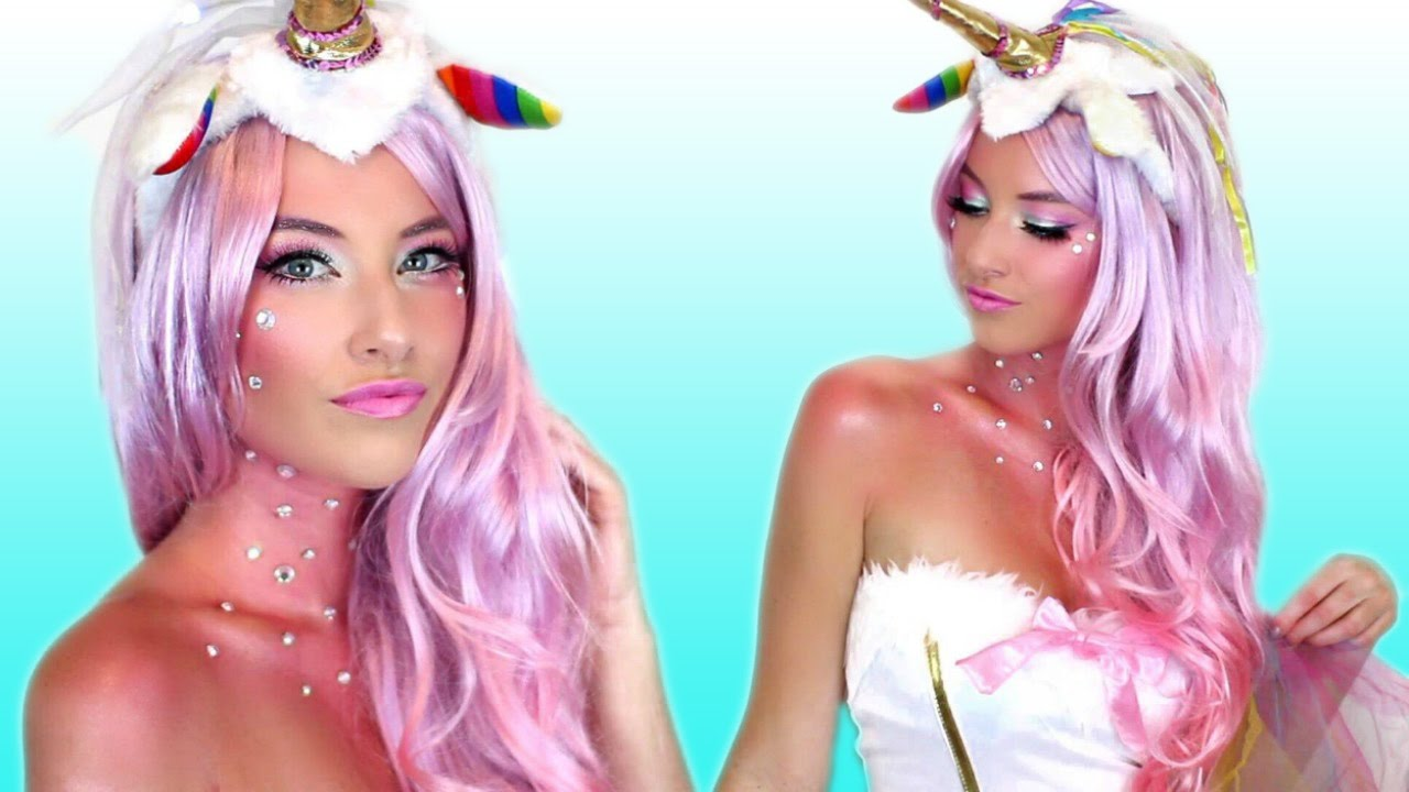 Unicorn Halloween Makeup Tutorial & Costume! - YouTube