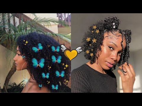 ⚡️❤️CUTE CURLY HAIRSTYLES + SLAYED EDGES COMPILATION 2020❤️⚡️   LOW KEY EXTRA EDITION
