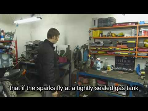 Russian hitting a gas tank to prove a point