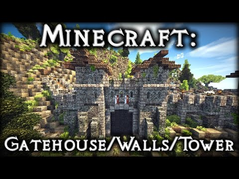 Minecraft: Roman Gatehouse, Walls & Tower Tutorial