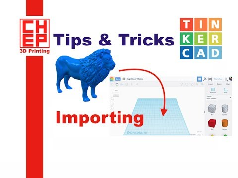 Tinkercad Tips And Tricks #6 - Importing SVG And STL Files