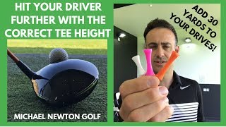 Hit Your Driver Further With The Correct Tee Height