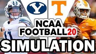 BYU @ Tennessee (9-7-2019) Simulation - NCAA Football 20