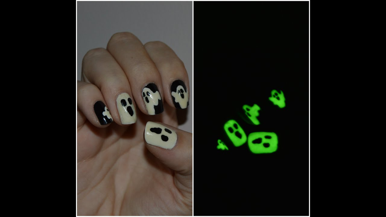 Glow In The Dark Nail Art Tutorial Part 1 Youtube
