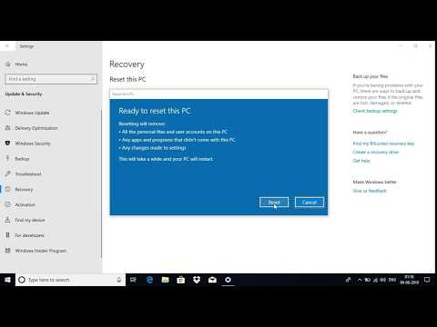 How to reset windows 10 without losing data