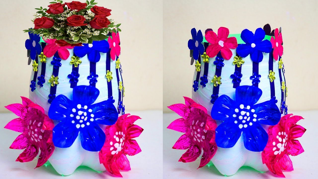 How to make flower vase with waste material - Handmade flower vase Flower Vase By Waste Material on shelf material, sculpture material, flower material, teapot material, water material, rococo material, quilt material, bird material, blanket material, box material, brick material, carpet material, valentine material, glass material, painting material, tablecloth material, basket material, terracotta material, rope material, heart material,