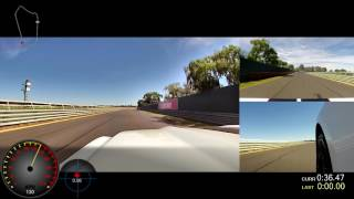 One clear lap at Sandown Raceway