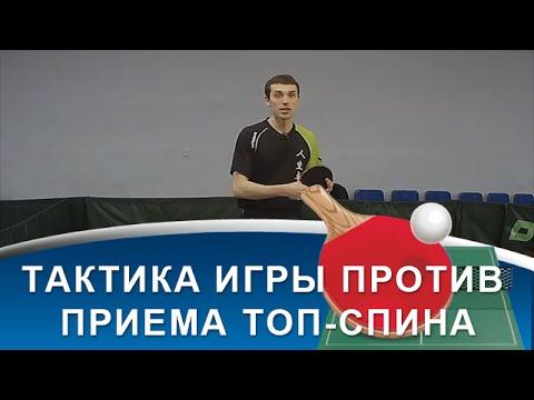 ТАКТИКА ИГРЫ В НАСТОЛЬНЫЙ ТЕННИС против ХОРОШЕГО ПРИЕМА ТОП-СПИНА (Тактика настольного тенниса)