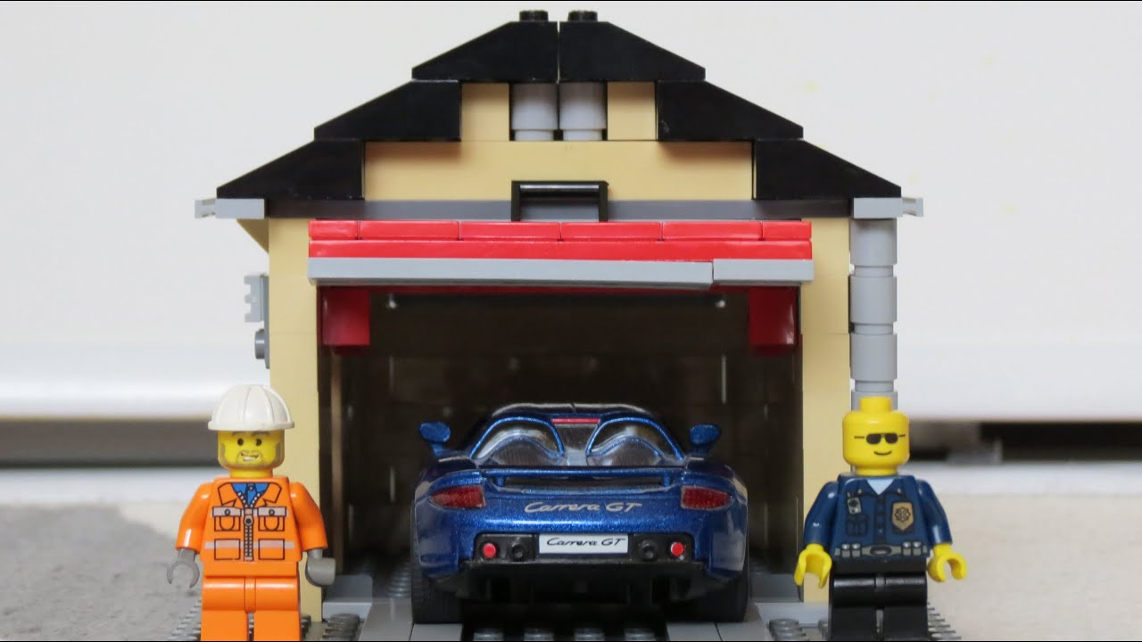 Lego garage build time lapse hd youtube for Garage piece auto