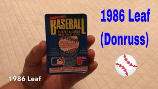 1986 Leaf baseball cards wax pack opening video