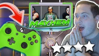 PLAYING WWE MAYHEM WITH A CONTROLLER! FIRST 4 STAR OVERDRIVE!