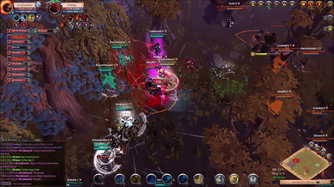Albion Online - Gravelight Marsh OOPS vs  Epics 1440p