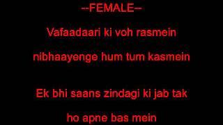 Jab koi baat bigad jaye - Karaoke - Kumar Sanu, Sadhana Sargam (Jurm 1990)